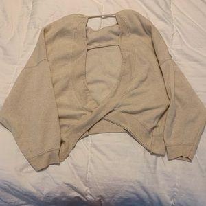 Open back oversized sweatshirt